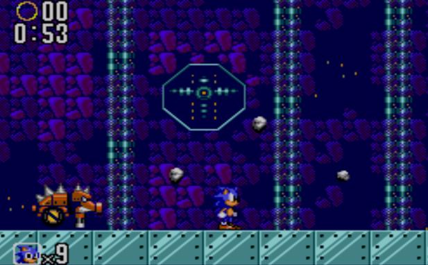 Uno de los estrambóticos jefes finales (Game Gear)