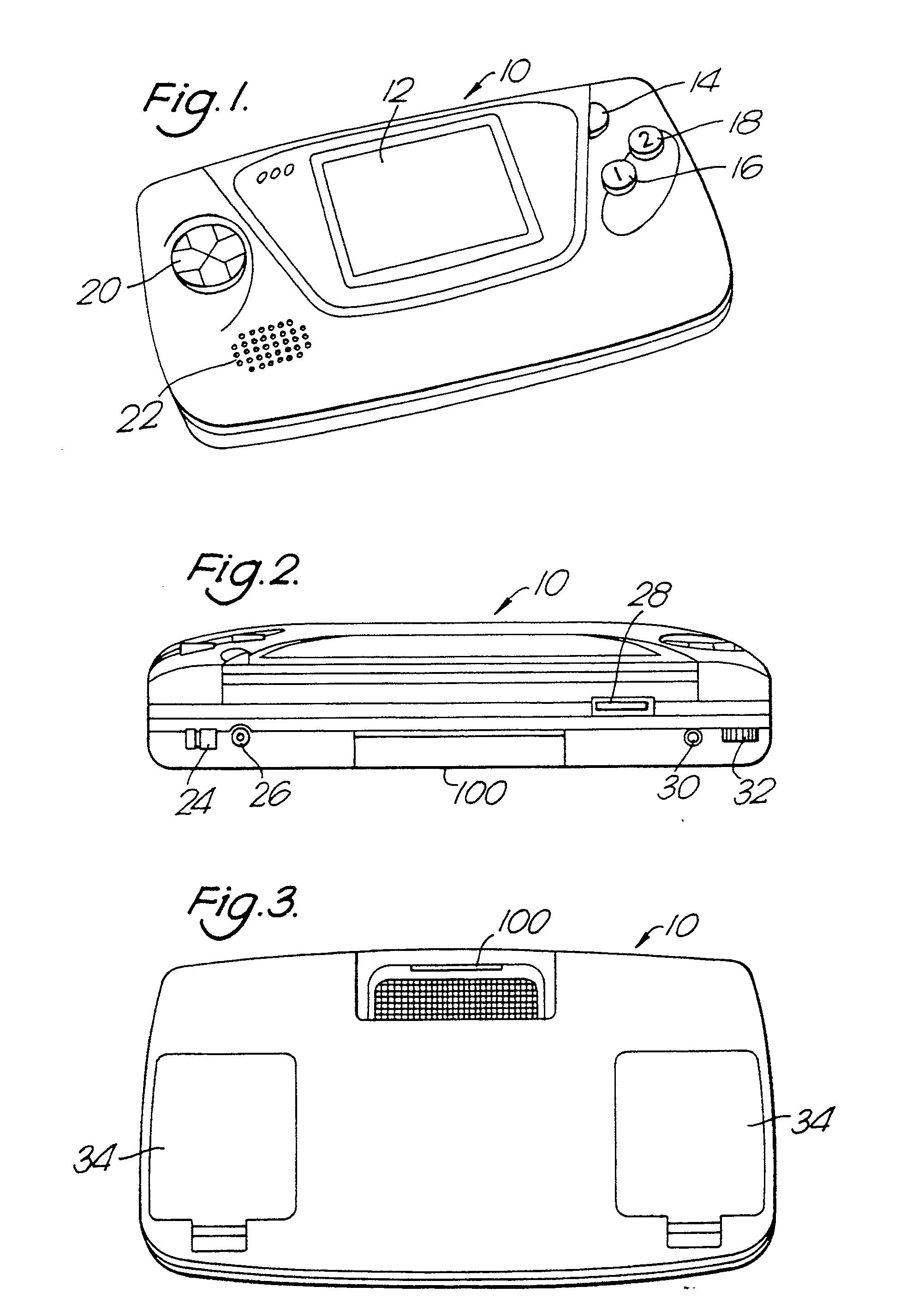 Planos de la patente de Game Gear