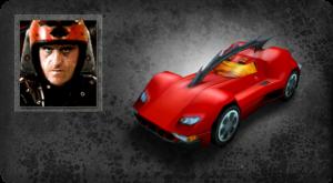 Max Damage y su coche el Eagle