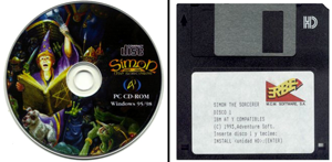 Simon the Sorcerer - CD - Disquete