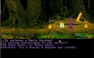 Simon the Sorcerer - Marta Sánchez, señales de obras