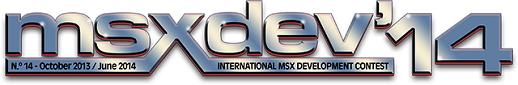 Logo edicion 2014 de la MSXdev