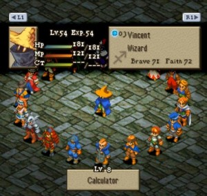 Final Fantasy Tactics - Trabajos