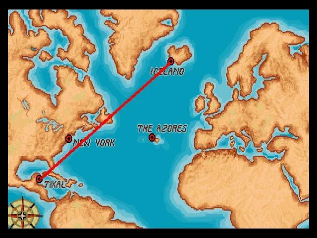 Viajaremos por todo el mundo, usando el clásico mapa