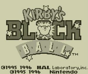 Kirby's Block Ball - Pantalla inicial